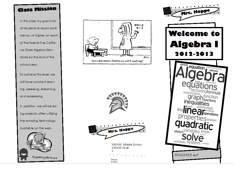 Made 4 Math Monday Boring Info Sheet Out Fun Brochure In