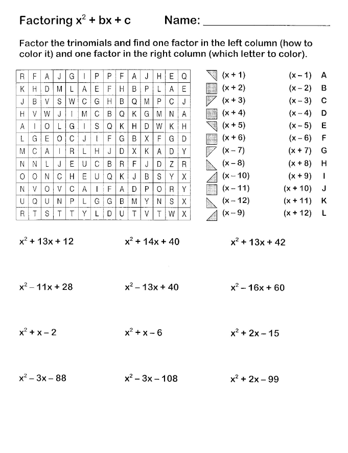 Factoring Easy Worksheets As Well As Long Multiplication Worksheets ...